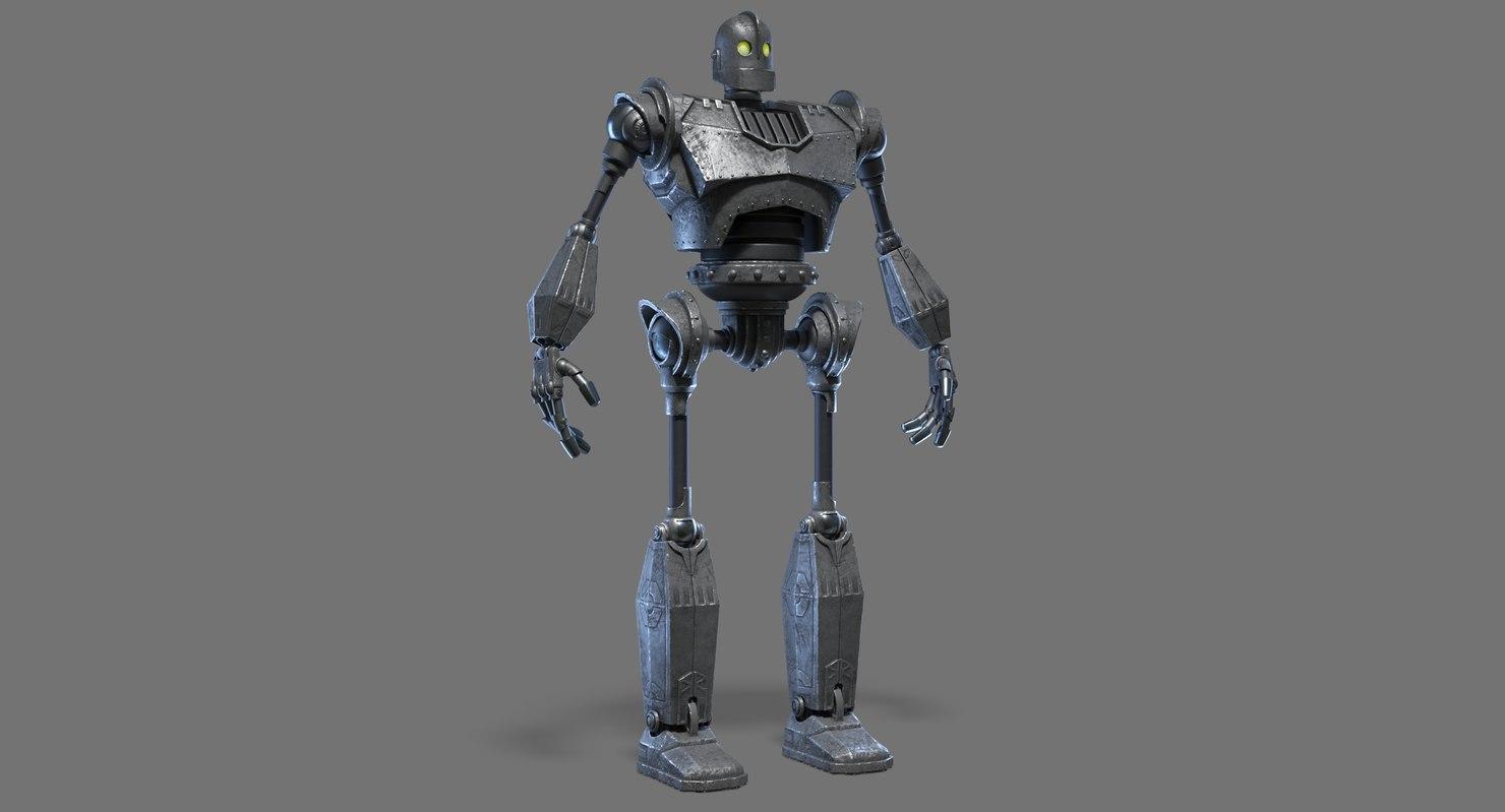 robot cartoon 3D