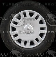 Citroen C3 wheel texture map