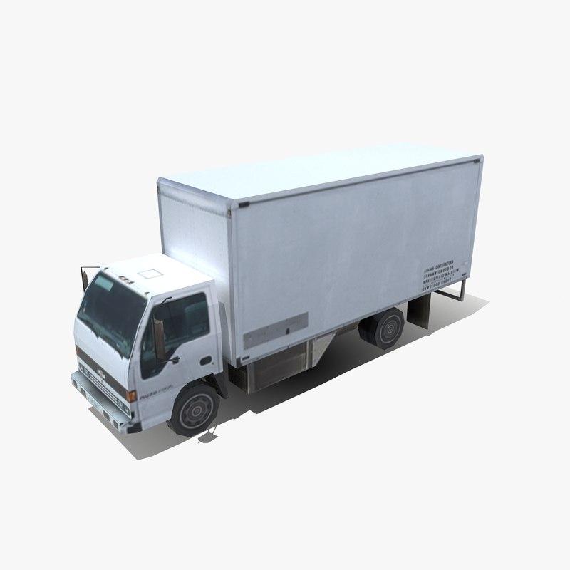 modern cargo truck 3d model