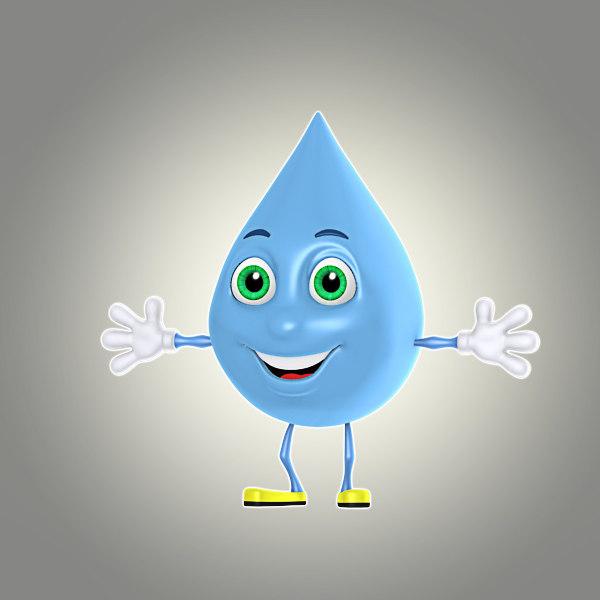 3d cartoon liquid drop