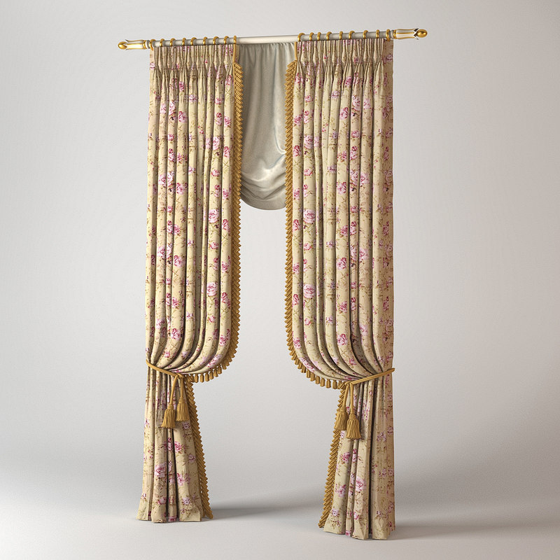 curtains classic set 3d max
