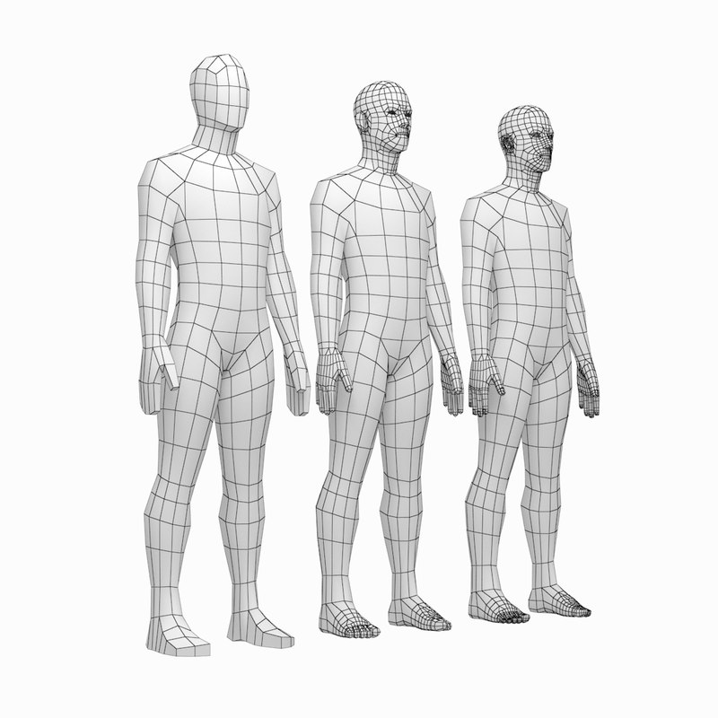 3D mesh male body rest