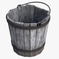 3D old bucket