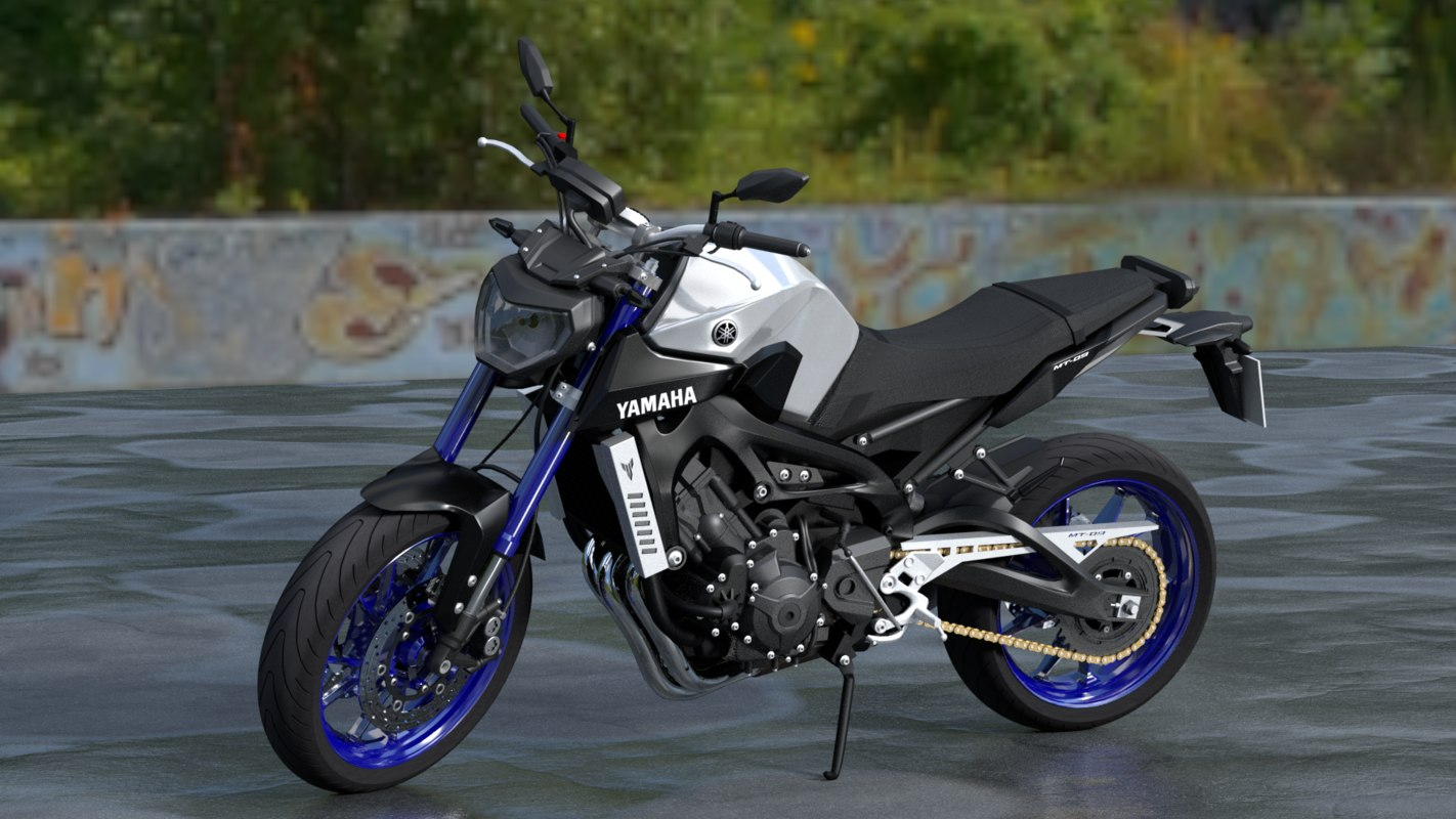 yamaha mt-09 3D model