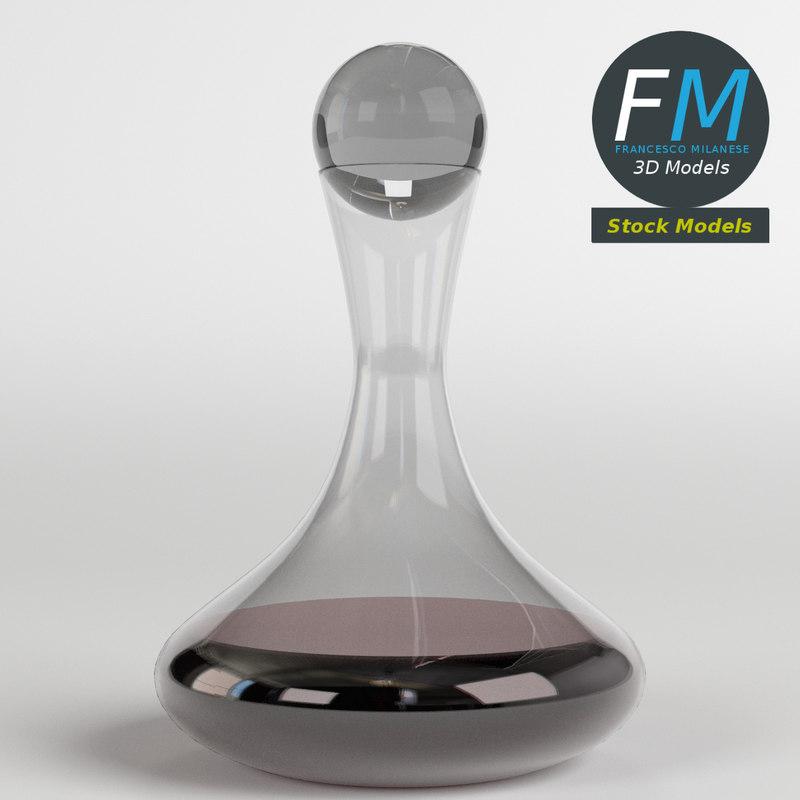 3D model wine decanter