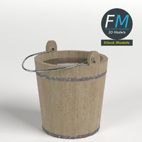 3D wooden bucket hr