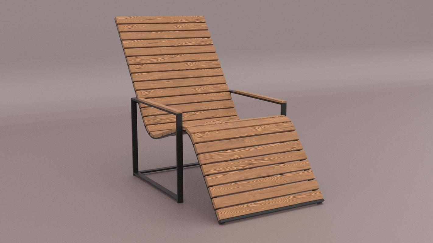 garden sun chair 3D