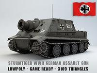 3D model wwii tank