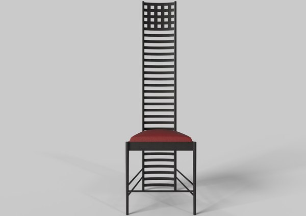 hill house chair charles rennie 3D