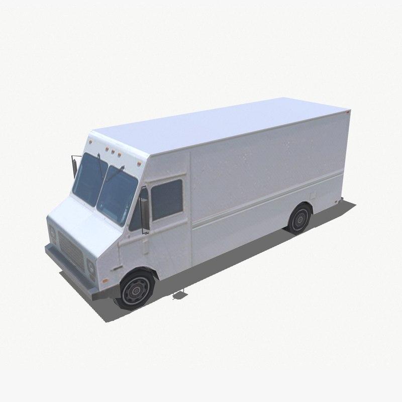 gmc step truck 3d model