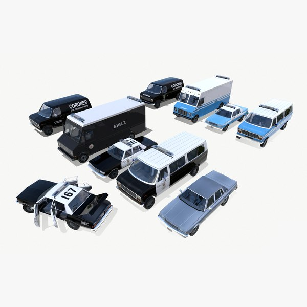 3d police vehicles cruiser truck model