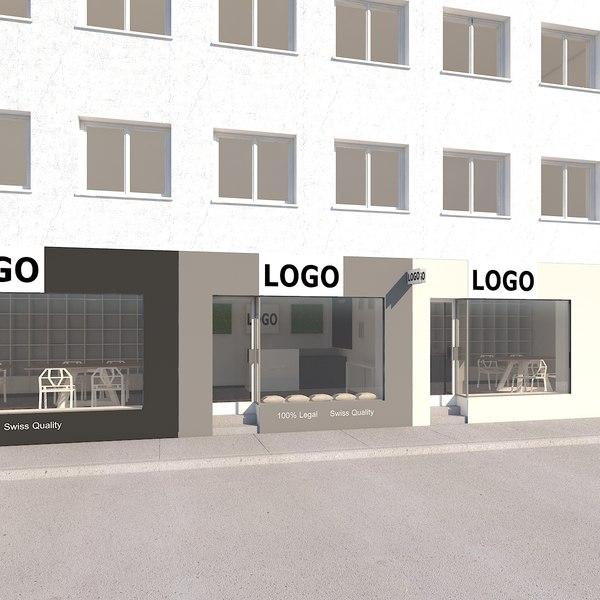line stores scene 3D model