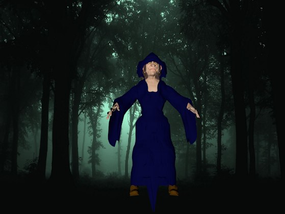 witch 3D model