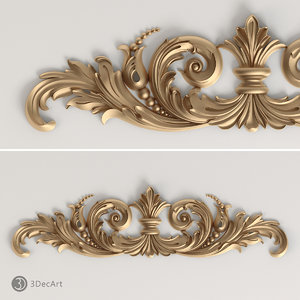 3ds max carved scroll cnc