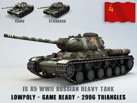 IS 85 Ussr Heavy Tank Lowpoly