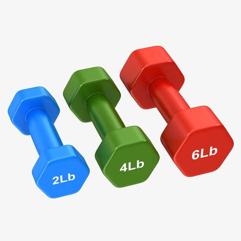 dumbbell set 3d x