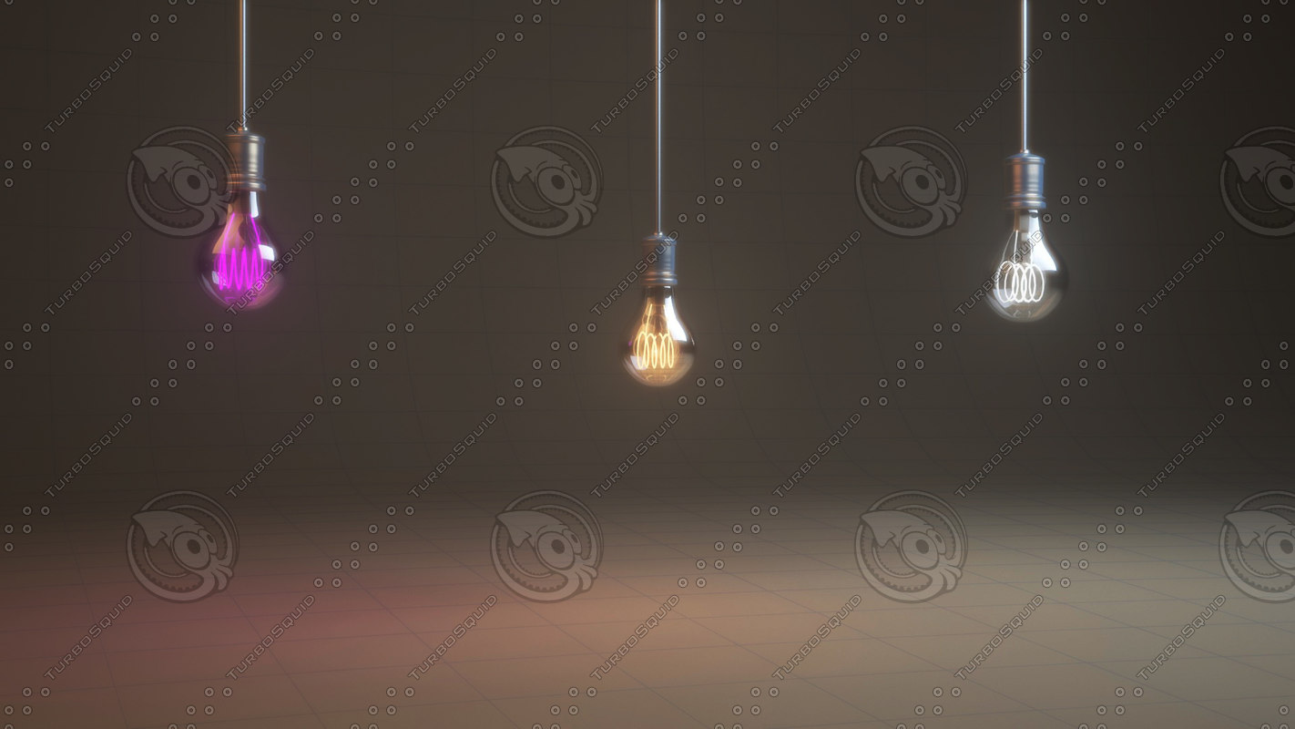 vintage bulbs lamps 3D model