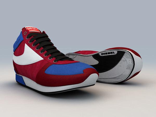 3d model diesel shoe