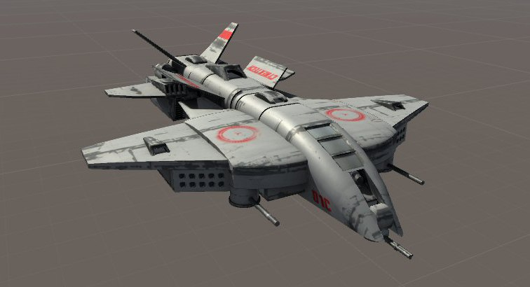 sci-fi aircraft 3d model