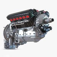 3d piston aero engine