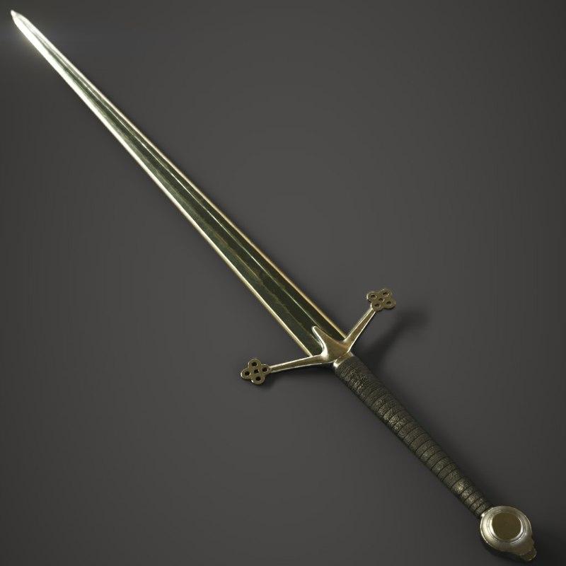 3D sword claymore