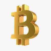 3D model bitcoin symbol