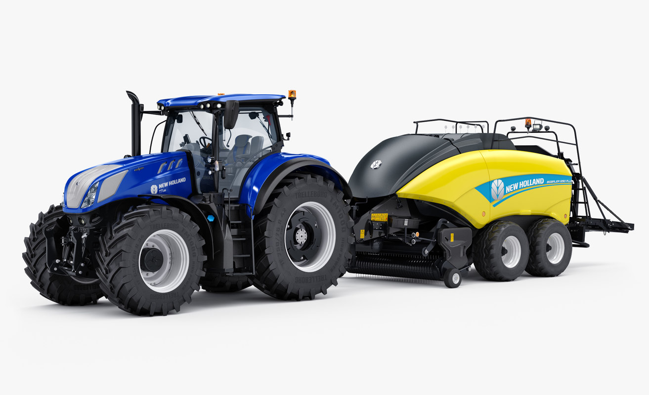 3D agricultural new holland t7