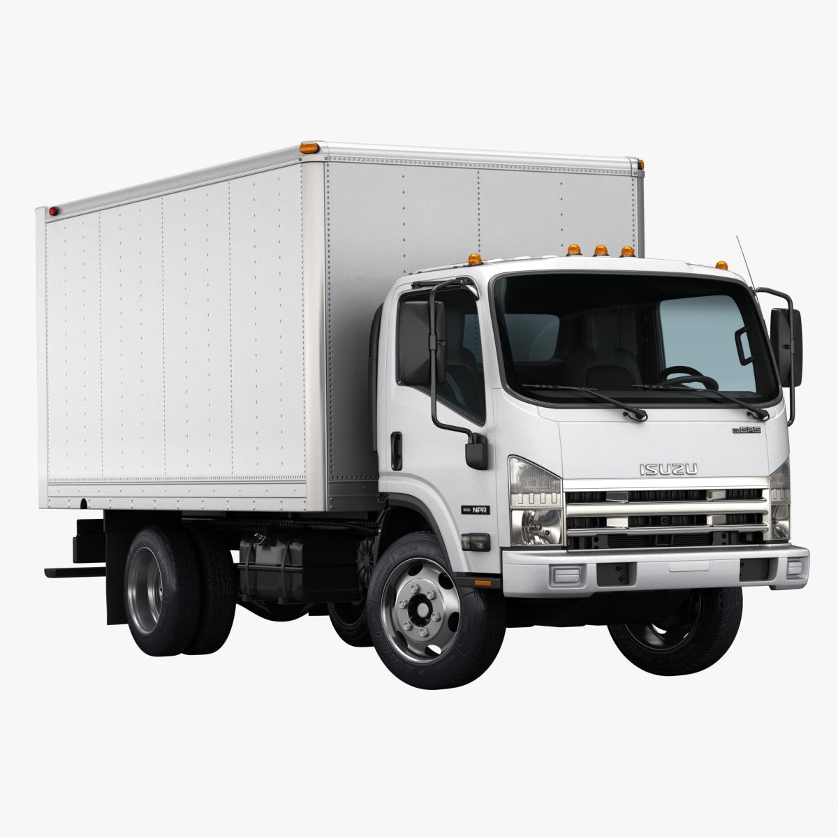 2016 isuzu npr gas 3d model