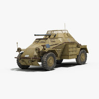 3d ww2 german sdkfz 222