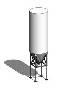 Parametric Cement Silo (Revit)