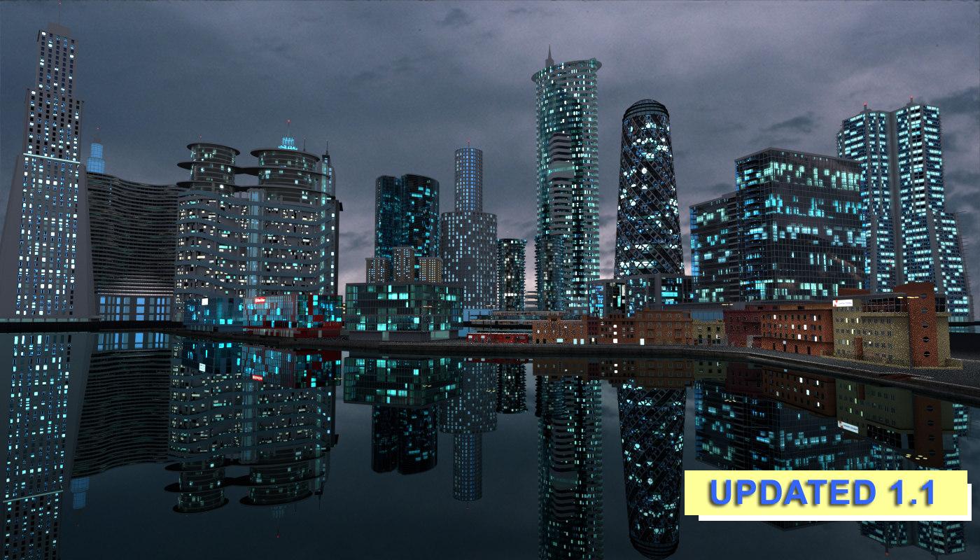 anzio city future 3D