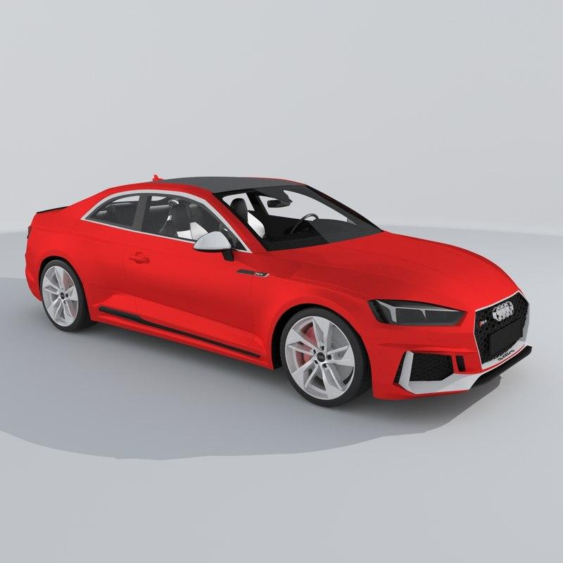 2019 Audi Rs 5 Interior: Audi Rs5 Coupe 2018 3D Model