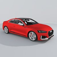 audi rs5 coupe 2018 3D model