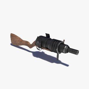 dwarf gun 3D