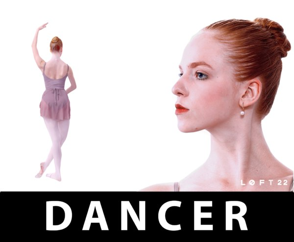 3d model real people ballerina