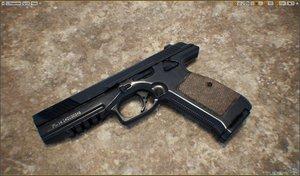 3d lebedev pistol pl-14 model