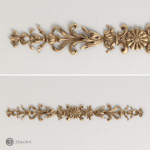 obj carved scroll cnc
