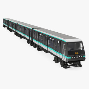 3D paris subway train mp