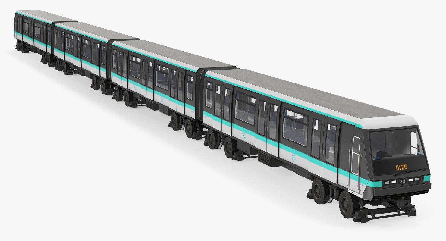 3D paris subway train mp