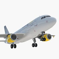 3D airbus a319 vueling airlines model