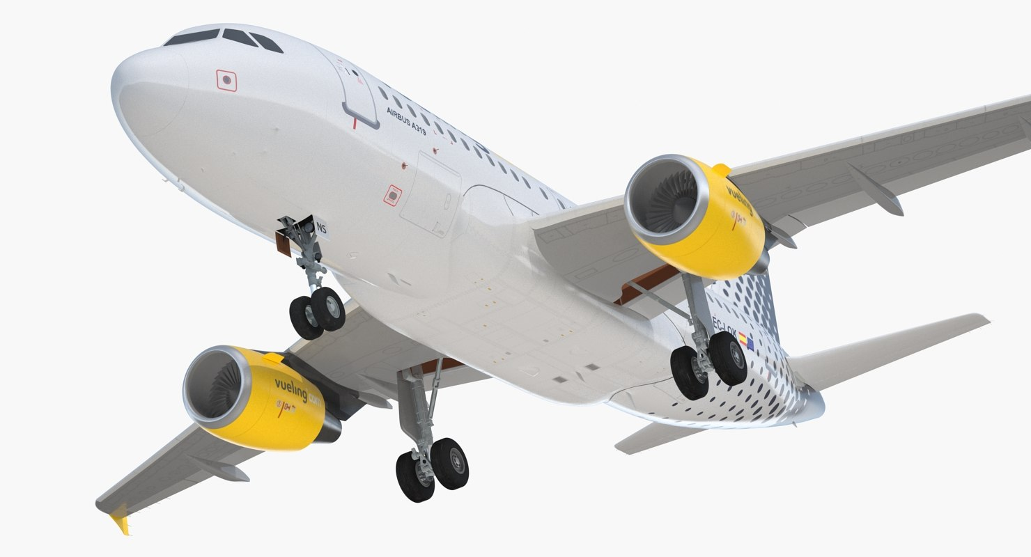 airbus a319 vueling airlines 3D model