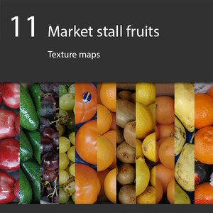 Market stall fruits collection