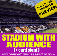 Stadium + Audience + Card Stunt