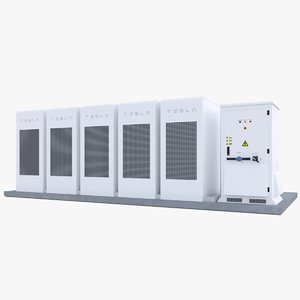 tesla powerpack 3D model