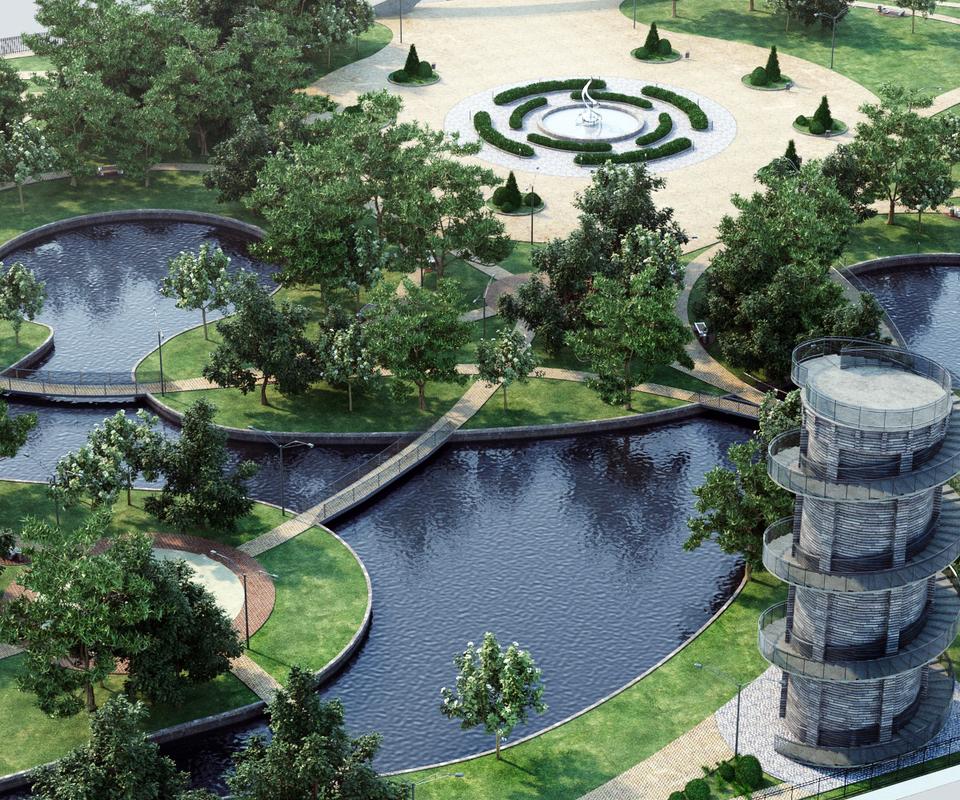 landscape park 3d model