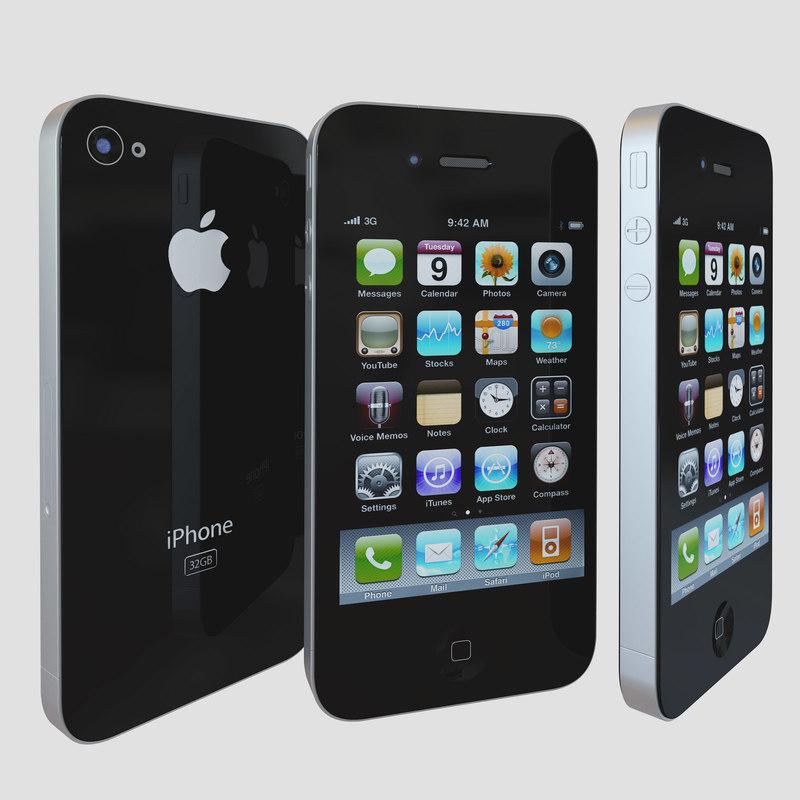 iphone phone 4 3d model