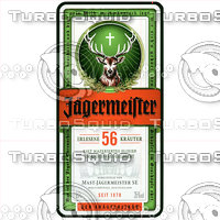 Jagermeister labels and  blueprint