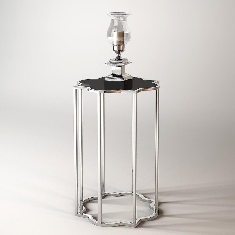3d model eichholtz table concentric