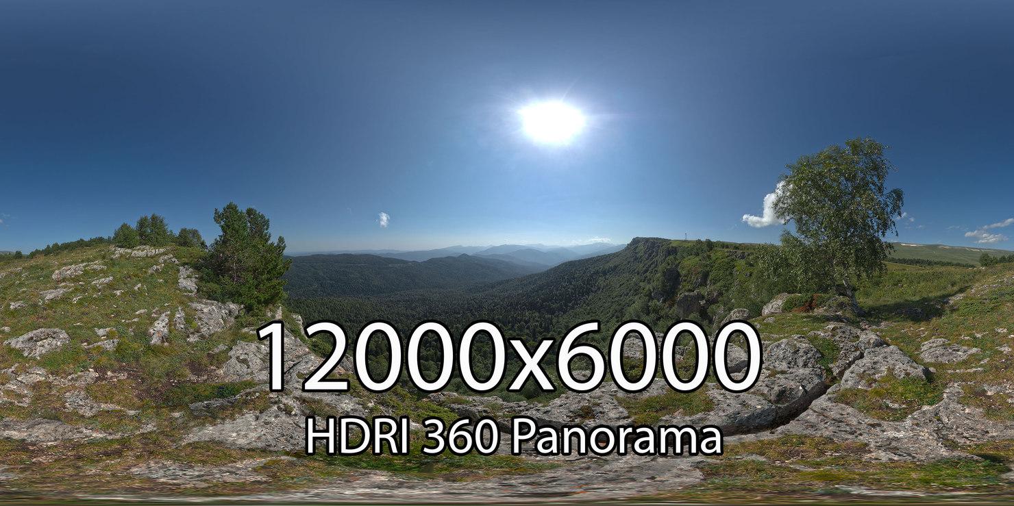 HDRI Adygea Lago Naki plateau
