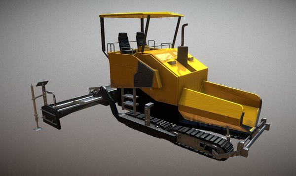 3D asphalt machine model